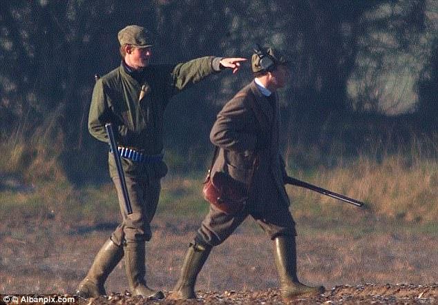 """Le prince Harry lors de la chasse de """"Boxing Day"""""""